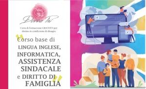 Corso di inglese, informatica, assistenza sindacale e diritto di famiglia